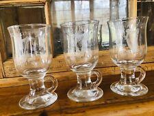 New listing Eamon Hand Crafted Dublin Ireland Irish Coffee Glasses Celtic Harp Qty 3