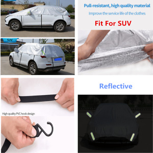 Half Body Car Cover Silver Waterproof Rain Snow Heat Dust Resistant Protection