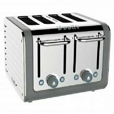 Dualit Architect 4 Slice Toaster   Stainless Steel with Grey Trim   Extra-Wide