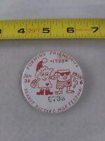 Vintage PEANUT BUTTER MILK FESTIVAL 1988 pin button pinback Forming Friends *A