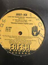 "JUST-ICE Put That Record Back On/La Toya 12"" VINYL Fresh records"