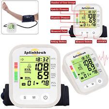 BRACCIO SUPERIORE pressione sanguigna Monitor Digitale Automatico Intellisense 180 MEMORIE in bianco