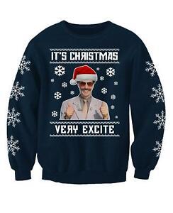 Its Christmas Borat Very Excite Funny Ugly Christmas Jumper Printed Sweatshirt