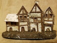 Rare Vintage Large Putz House Rustic Made of Birch Bark?
