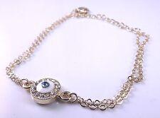 Braccialetto in Oro Malocchio Ciondolo Amuleto Mano di Fatima Hamsa Regalo Kabbalah Judaica