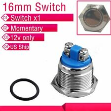 12V Push Button Switch Start Momentary Auto for Car/boat 16mm US