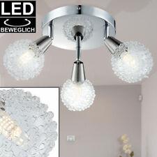 LED Design Decken Strahler Glas Kugel Leuchte ALU Spot Rondell Lampe beweglich