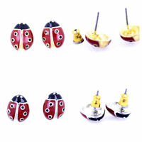 Super cute gold / silver tone ladybird stud earrings, multiple choices