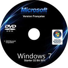 ✅ Windows 7 Starter SP1 32 bit Français Installation Restauration sans licence ✅