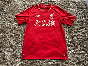 Liverpool FC 2015-2016 Men's Football Home Shirt Top Jersey Size Small RED