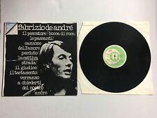 """Fabrizio De Andrè - FABRIZIO DE ANDRE' - Ricordi 33 Giri 12"""" LP ORL8064 Andre"""