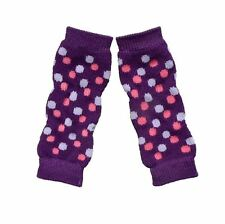 Dog Warmer - Pet Dog Polka dots print Legging Warmer Socks Purple  S M L XL