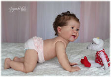 Reborn Baby doll Kenzie, Big Toddler 10 months old. open eyes. Micro rooted hair