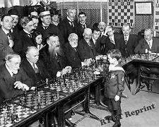 Photograph 8 Year Old Chess Champion Samual Reshevsky VS The World 1920  8x10