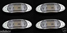4x 6 LED Weiß SEITE CHROM BEGRENZUNGSLEUCHTEN 24V für LKW SCANIA MAN DAF IVECO