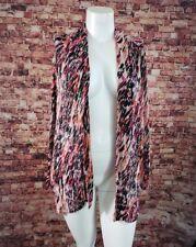 Maggie Barnes Orange Pink Black Beige Multi Color Open Sweater Size 1X