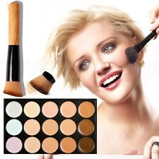 15 Colors Concealer Palette kit Makeup Contour Cream with Free Makeup Brush New