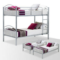 Bunk Bed Frame Convertible Twin Over Twin Metal Frames / 2 Twin Size Bed Frames