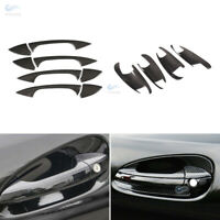 12* Carbon Fiber Door Handle+Bowl Cover for Mercedes C E GLK CLA Class W212 X204