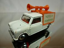 DINKY TOYS 492 MINI VAN  - VOTE FOR SOMEBODY - WHITE 1:43 - GOOD CONDITION