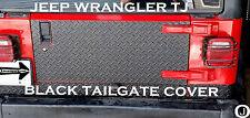 Jeep Wrangler TJ 1 pc Black Rubber Coated Aluminum Diamond Plate Tailgate Cover