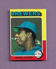 1975 TOPPS HANK AARON BASEBALL CARD #660 - EXCELLENT CONDITION! BRAVES