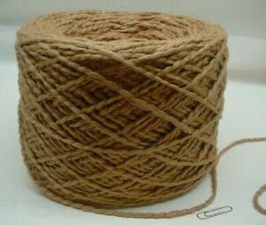 Pecan Organic Cotton Bulky 550 ypp Center Pull Ball~ .75 - .80 of a lb