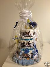 3 Tier Infant Boys Sports Diaper Cake For Baby Showers & After Delivery Gift New