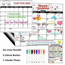 New listing Dry Erase Calendar Board Magnetic for Refrigerator Monthly&Weekly White