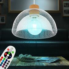 RGB LED Jaula Colgante Cubrir Lámpara Control Remoto Salón Péndulo Luz Regulable