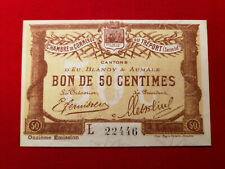 Billet 50 ct Chambre de Commerce TREPORT Cantons D'EU,Blangy & Aumale 11e Emis.