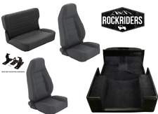 1976-1995 Jeep Wrangler CJ7 Reclining Front and Rear Seat with Carpet Kit Combo