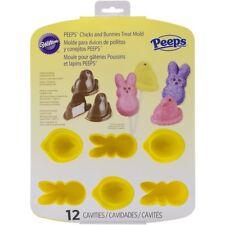Wilton PEEPS Chicks Bunnies Easter Rabbit Silicone Treat Mold Chocolate NEW