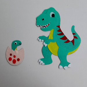 Dinosaur Kids Room Deco Felt Fabric Cute Lovely Handmade Super Colorful Sticker