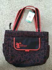 Disney Mickey Mouse Large Diaper Bag with Flap Red Mickeys New With Tag