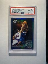 MICHAEL JORDAN 2002-03 TOPPS CHROME REFRACTOR WASHINGTON WIZARDS #10 PSA 8 NM-MT