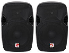 "(2) Rockville SPGN124 12"" Passive 2400W DJ PA Speakers ABS Lightweight Cabinets"