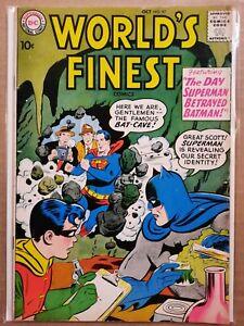 World's Finest Comics #97 - Superman Betrays Batman! Awesome 10¢ DC Comic 1958