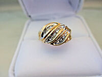 Engagement 10k Yellow GOLD 24Baguette Natural DIAMOND RING