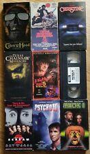 Lot Of 9 Horror VHS... Christine, Psycho II, Halloween  II & More!