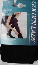 Golden Lady Small Size 50 Denier Soft Opaque Tights in Black
