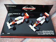 World Champion Set 2 McLaren Collection Senna Prost 1988/89 Minichamps 1:43 TOP