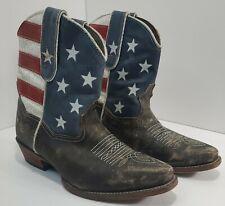 Roper American Beauty Flag Western - Brown - Womens Size 7.5