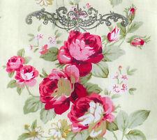 Fabric Sample--11 cm x Wide x 10 cm High--Shabby Chic-----Cotton----Raw edge
