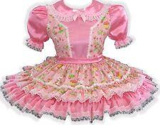 """Emma"" CUSTOM Fit STRAWBERRY SHORTCAKE Adult Little Girl Sissy Dress by LEANNE"
