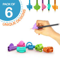 Pack of 6 Pencil Grips for Kids Handwriting - Homeschooling Supplies