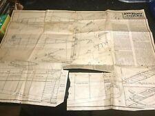 Keil Kraft 'Joker' Stunt Model for .5 Diesel-Plan-1940-50's-Essex,UK-Rare Piece.