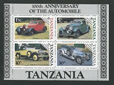 TANSANIA ABART AUTO CARS OLDTIMER ** ERROR MNH RARE! d6617