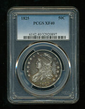 Very Nice 1825 Capped Bust Half Dollar PCGS XF40