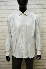 Camicia Uomo TOMMY HILFIGER Taglia 44 17,5 XL Maglia Polo Shirt Tailored Righe